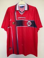 NORWAY NATIONAL 19971998 HOME FOOTBALL JERSEY NORGE SOCCER SHIRT VINTAGE