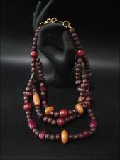 Joya Collar Cadena de Madera Violeta 3-lagig 45cm #38