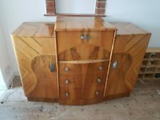 Original 1930's Veneer Art Deco Cocktail Cabinet in good condition