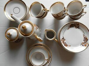 Fine Bone China Porcelain Espresso Coffee Set cups saucers pot sugar milk jug 33