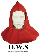FLAME-RETARDANT HOOD for Welding / blacksmith RED