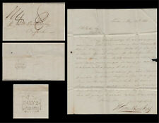 1838 Stampless Cover/Letter-Oxford to London-Re:Grand Turk to Paris via Bologna