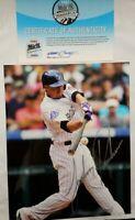 Jordan Pacheco COLORADO ROCKIESAUTOGRAPHED SIGNED MLB 8x10 PHOTO HOLO COA