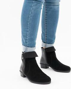 Rieker Y0752-00 Ladies Womens Autumn Casual Office Side Zip Ankle Boots Black