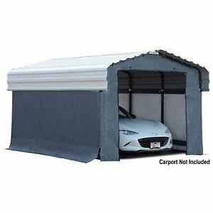 Arrow Carport Enclosure Kit- For 15ftLx10ftW Arrow Carport Gray Model# 10182