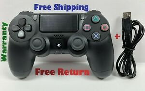 Wireless Jet Black Dualshock controller for Playstation PS4 + USB Cable