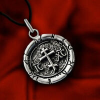CHRISTIAN ORTHODOX RUSSIAN CROSS ICXC SOLID STERLING 925 SILVER PENDANT NECKLACE