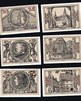 6x Notgeld Serie Arnstadt Thüringen 1921 25 Pf div. Ansichten - Persönlichkeiten