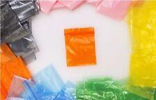 100 Druckverschlussbeutel Plastik Beutel ZIP Beutel Tütchen Orange 50x50mm