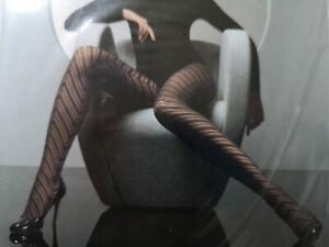 WOLFORD Herringbone tights black bold diagonal stripe print pattern designer L
