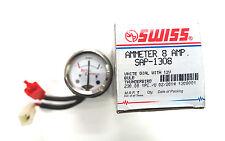 Royal Enfield Amperemeter weiß Swiss SAP-1308 Gehäuse 42mm mit Gummi