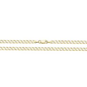 9ct Gold Anklet - Solid Curb Link -  3 grams - Fully Hallmarked & Boxed