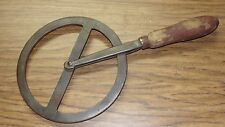 Antique Conestoga Wagon Wheel Traveler Blacksmith Tool Wrought Iron Wood Handle