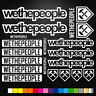 WeThePeople 20 Stickers Autocollants Adhésifs - Vtt Velo Mountain Bike Dh