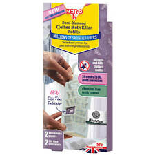 More details for zero in demi-diamond clothes moth refills pack of 2