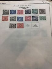 Old Belgium Mh Postage Due Stamps- Lot A-68143