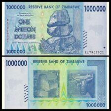 Zimbabwe 1000000 (1 Million) Dollars 2008 P-77 UNC