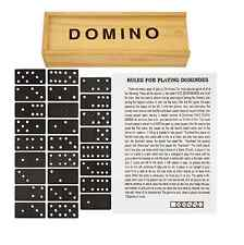 2x Dominoes Traditional Set Board Game Classic Wooden Box 28 Piece Kids Fun Game
