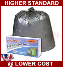 240 39 gallon Black Lawn & Leaf Garbage Trash Can Liner Bags Waste Clean Dispose