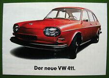 VOLKSWAGEN - VW 411 / Typ 4 - original Prospekt - 1968 - Sammlungsauflösung