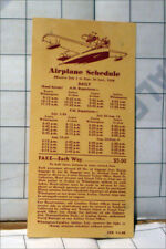 old air transportation ad airline 1938 Santa Catalina Island AIR SHIP RATE CARD