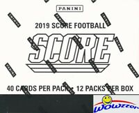2019 Score Football MASSIVE JUMBO FAT Pack Factory Sealed Box with 480 Cards!