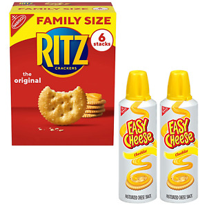 RITZ Original Crackers and Easy Cheese Cheddar Snack Variety Pack, 1 Family Size