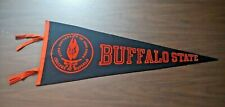 Rare Vintage Felt Old NCAA College Buffalo State University of New York Pennant