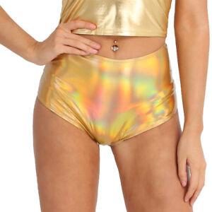 Women High Waisted Booty Shorts Hot Pants Club Dance Costume Bottoms Underwear