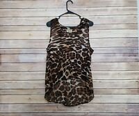 SHOW ME YOUR MUMU Tank Top Animal Print Small S Sleeveless Shirt Sheer USA