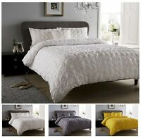 Luxuries Designer SEVILLE PLEATED Pintuck Duvet Quilt Cover Bedding Set All Size