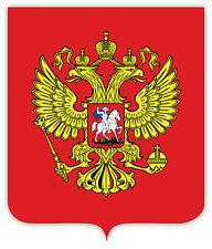 Russian Россия Russland stemma coat of arms etichetta sticker 10cm x 12cm