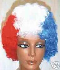 PERRUQUE Tricolore bouclée bleue blanc rouge FRANCE deguisment promo