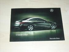 36633) Mercedes E-Klasse Coupe Prospekt 2009