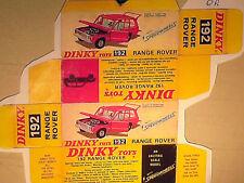 REPLIQUE  BOITE RANGE ROVER  / DINKY TOYS 1971