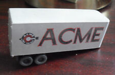 Vintage HO Scale Plastic ACME Freight Cannister Truck Trailer
