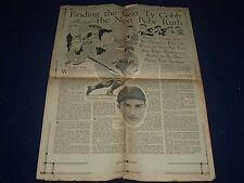 1928 SEP HOUSTON PRESS PAGE - FINDING THE NEXT TYCOBB & NEXT BABE RUTH - NP 972L