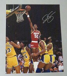 123008 Ralph Sampson Signed 16x20 Photo AUTO LEAF COA Virginia Cavaliers HOF