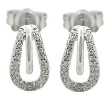0.13 Ct.Natural Round Diamond Earrings With Push Back