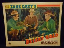 Tom Keene Buster Crabbe Desert Gold 1936 Lobby Card Fine Robert Cummings Western