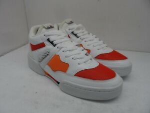 Ellesse Men's Piazza Leather Casual Sneakers White/Red/Orange Size 12M