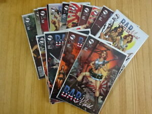 RARE SET OF B.A.R. MAID #1-5 COMIC BOOKS! VARIANTS! ZENESCOPE!