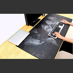 Anti-slip World Map Pattern Large Gaming Mouse Pad Keyboard Mat Desk Mousepad