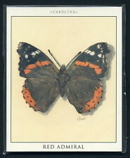 BUTTERFLIES Collectors Cards - Red Admiral Swallowtail Peacock & Monarch images