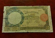 Banconota Lire 50 Lupa - 4 Febbraio 1944 - qBB - molto rara