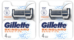 Gillette Skinguard Sensitive Blades for Men - 2 x Pack of 4 = 8 Blades !!SALE!!