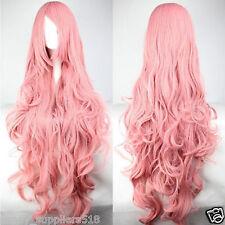 FASHION Long Pink graffe Vocaloid LUKA MEGURINE Cosplay Partito Parrucca piena