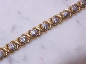 Women's Vintage Estate 14k Turkish Gold Tennis Bracelet, 9.8g