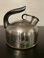 New listing Vintage Revere Ware Tea Kettle 1801 Pre-1968 Copper Bottom Whistling Pot Rome Ny