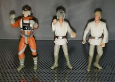 Star Wars Luke Skywalker with Blast Shield/x-wing suit and flashback 3 lot